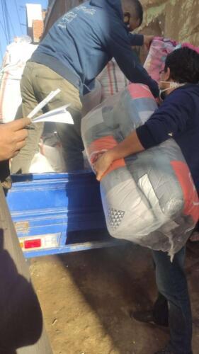 توزيع ألحفة - البحيرة - يناير 2021