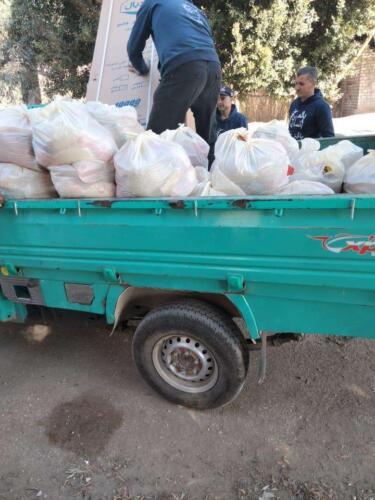 ذبح عجل وخروف وتوزيع شنط مواد غذائية - سوهاج - ديسمبر 2020