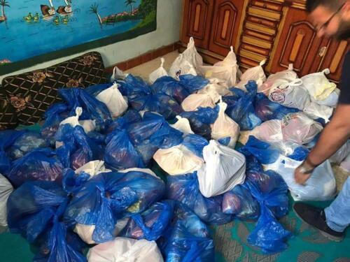 توزيع شنط مواد غذائية - أطفيح وكفر قنديل - أكتوبر 2020